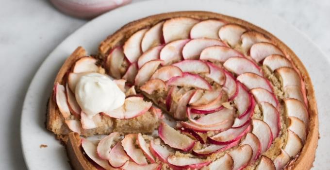 Æbletærte med kanelfrangipane