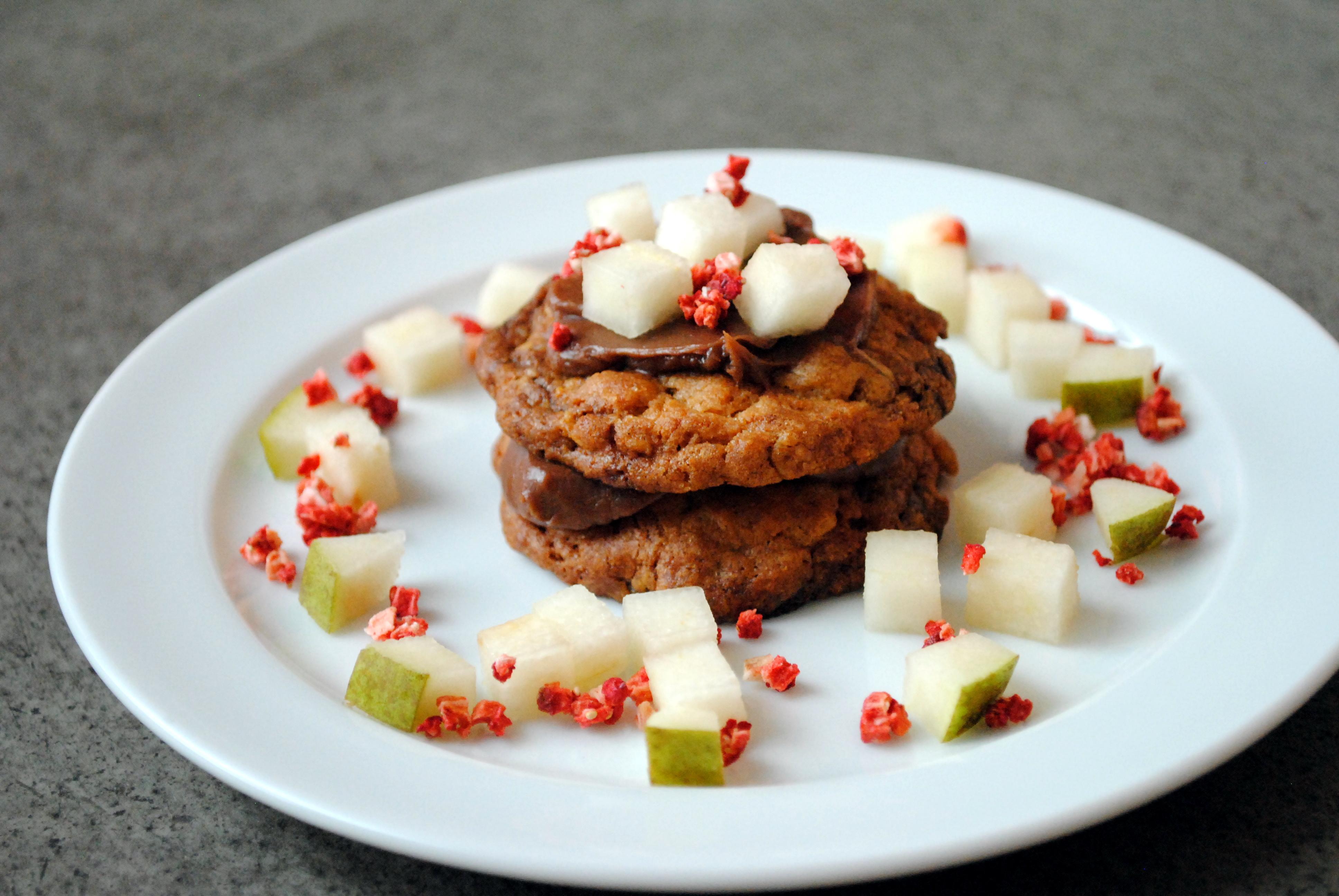 Cookies med ganache og pære