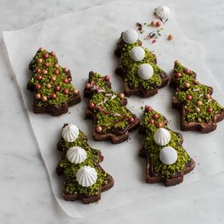Brownie juletræer