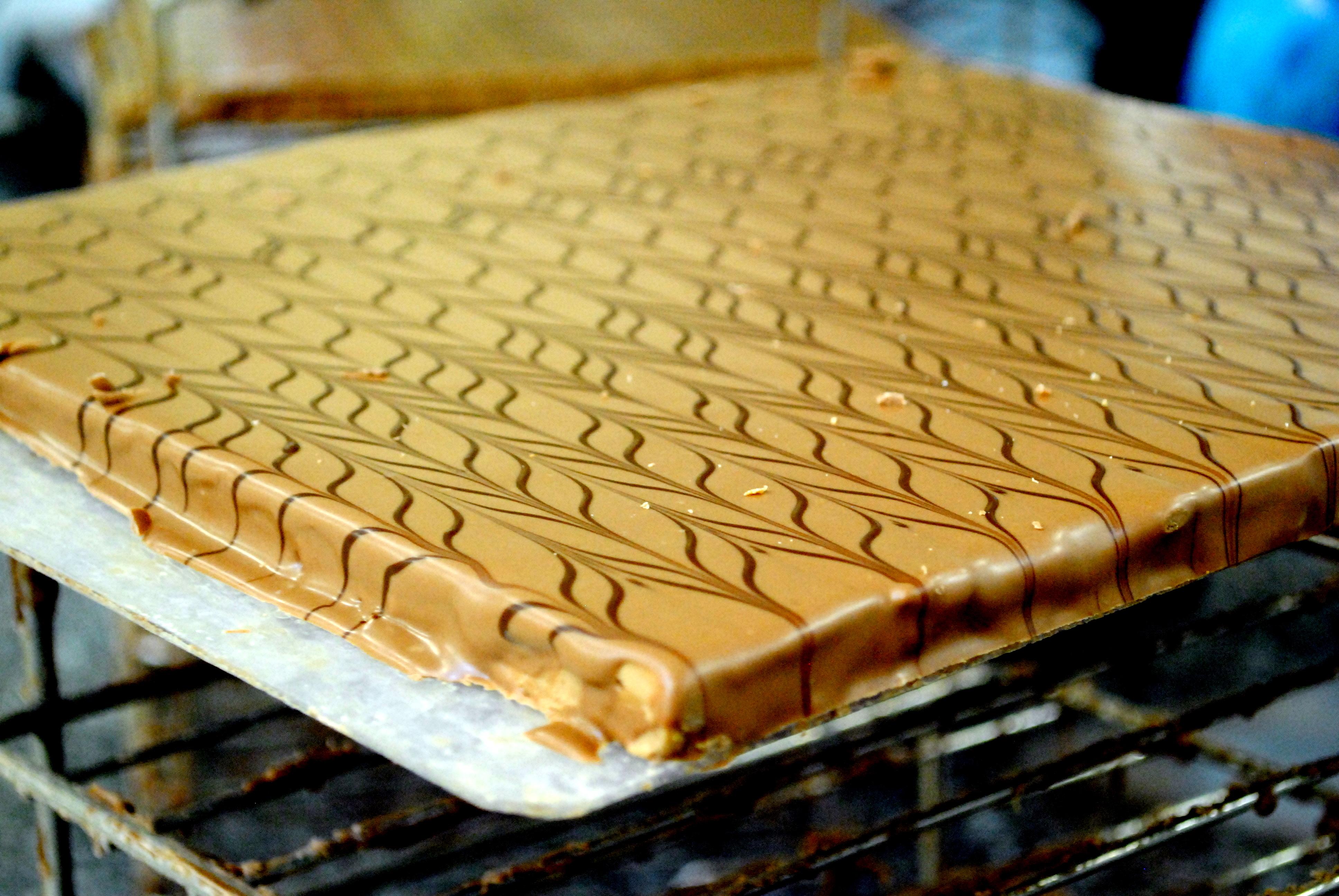En lille bid af Valrhonas chokoladefabrik