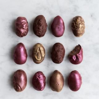 Hjemmelavede chokolade påskeæg