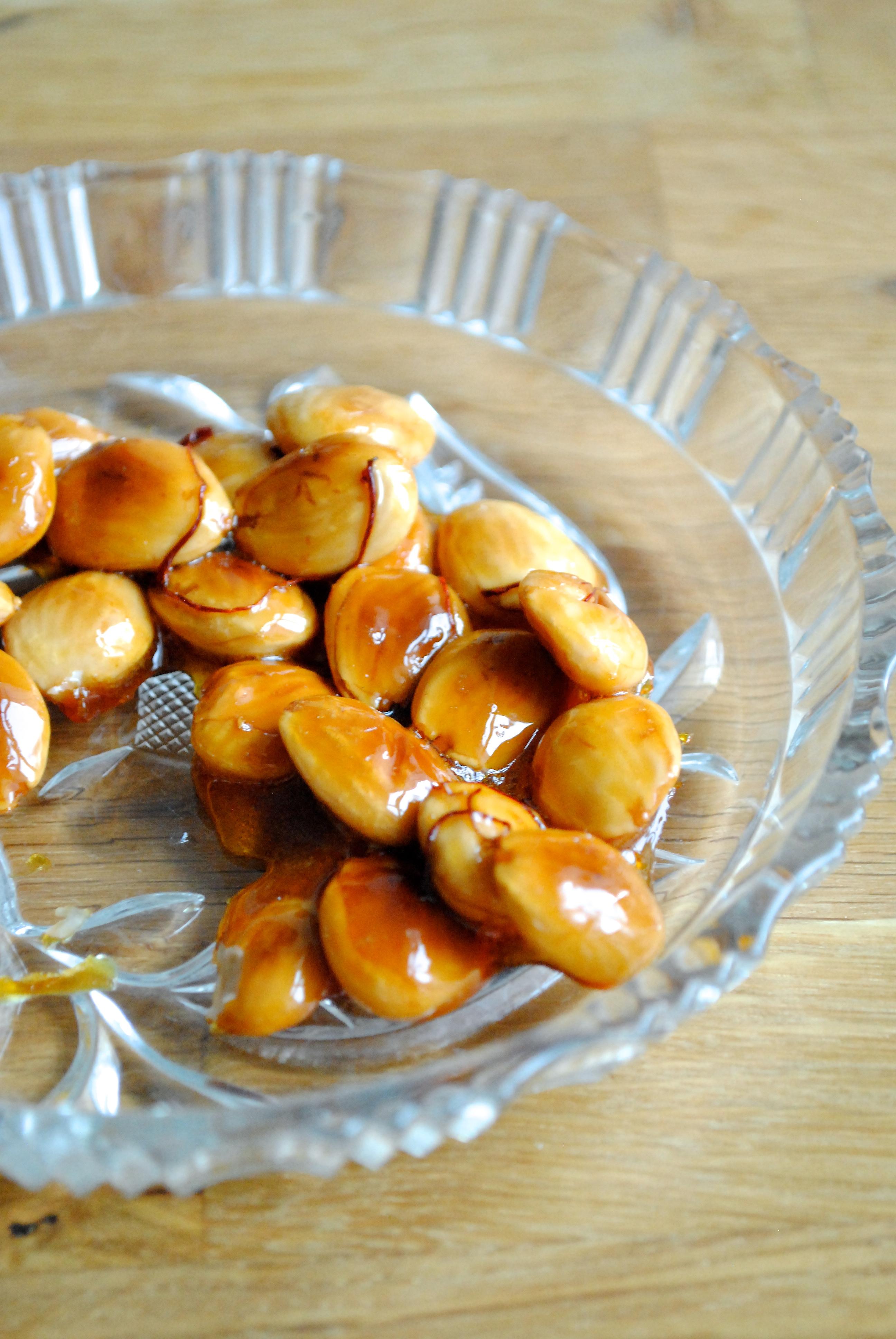 Syltede ribs og sprøde safranmandler
