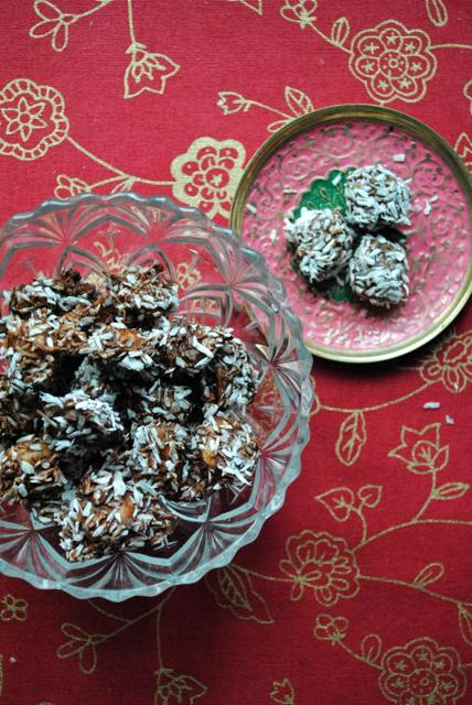 Chokolademandler med kokos