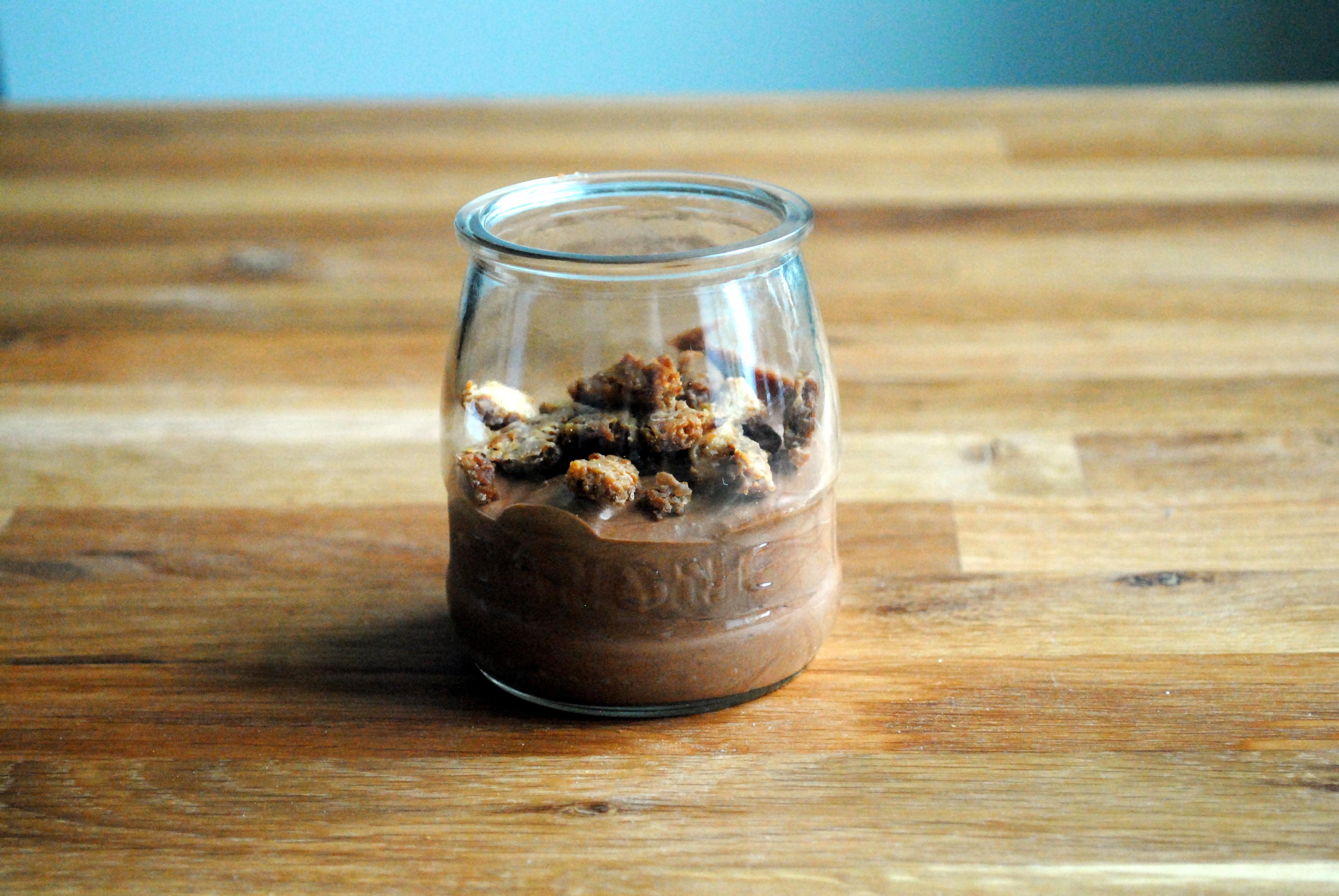 Årets sidste dessert – chokolademousse à la Valrhona