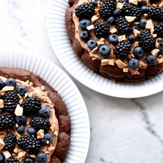 Banana muffins with dark chocolate and walnuts