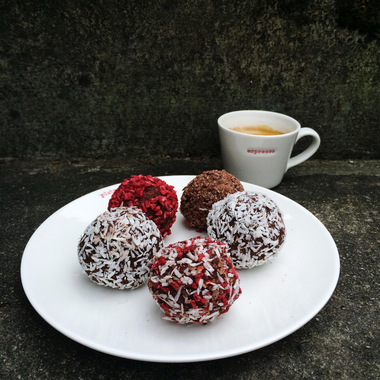 Chocolate cake rum balls