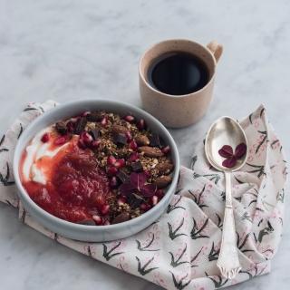 Jordbær-rabarber syltetøj med vanilje