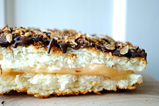 Spontane kokos-karamel-kager